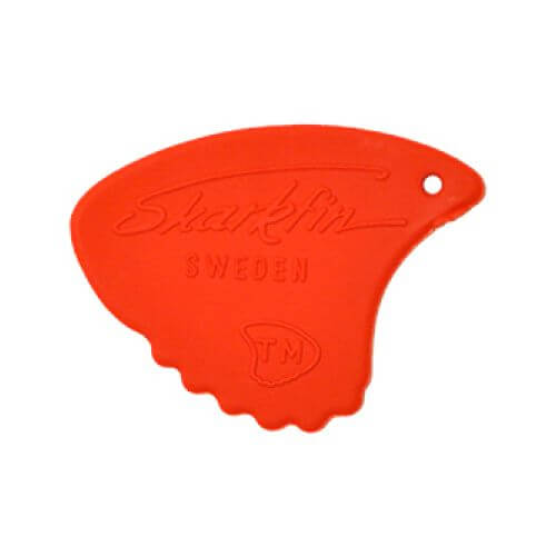 Image of   Sharkfin GP 104 Relief, Soft, Red plektre (10 stk)
