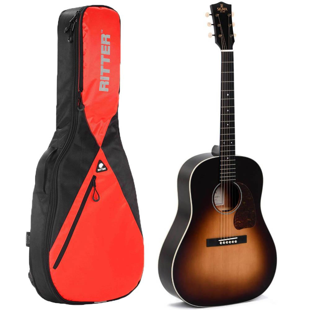 Sigma JM-SG45+ western-guitar med taske