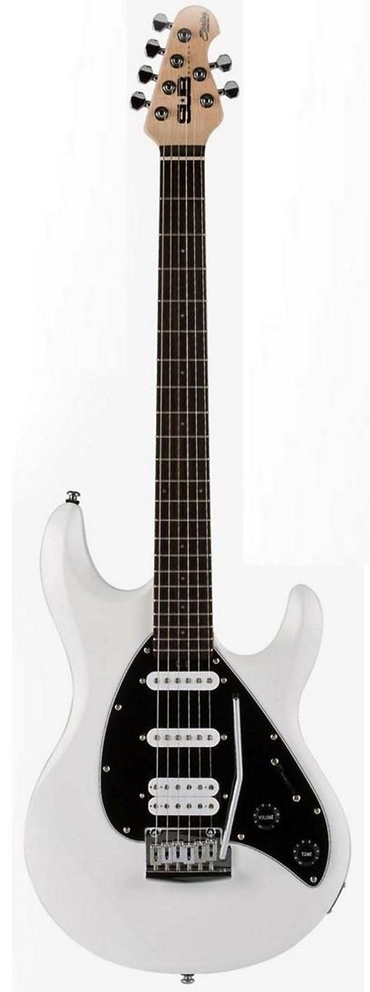 SterlingbyMusicMan S.U.B.Silo3-WH el-guitar hvid