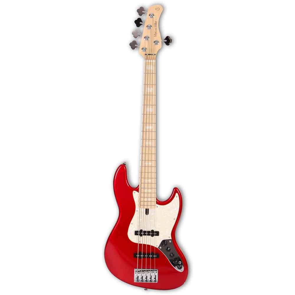 Sire Marcus Miller V7 SWAMP ASH-5  BMR el-bas, 5-strenget Bright Metallic Red