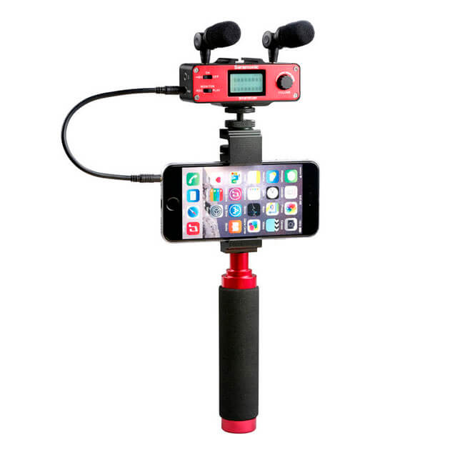 Saramonic Smartmixer mixer,mikrofoneroghåndtagtilsmartphone