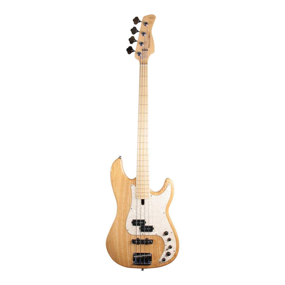 Sire Marcus Miller P7 SWAMP ASH-4 FL NT el-bas, båndløs natur