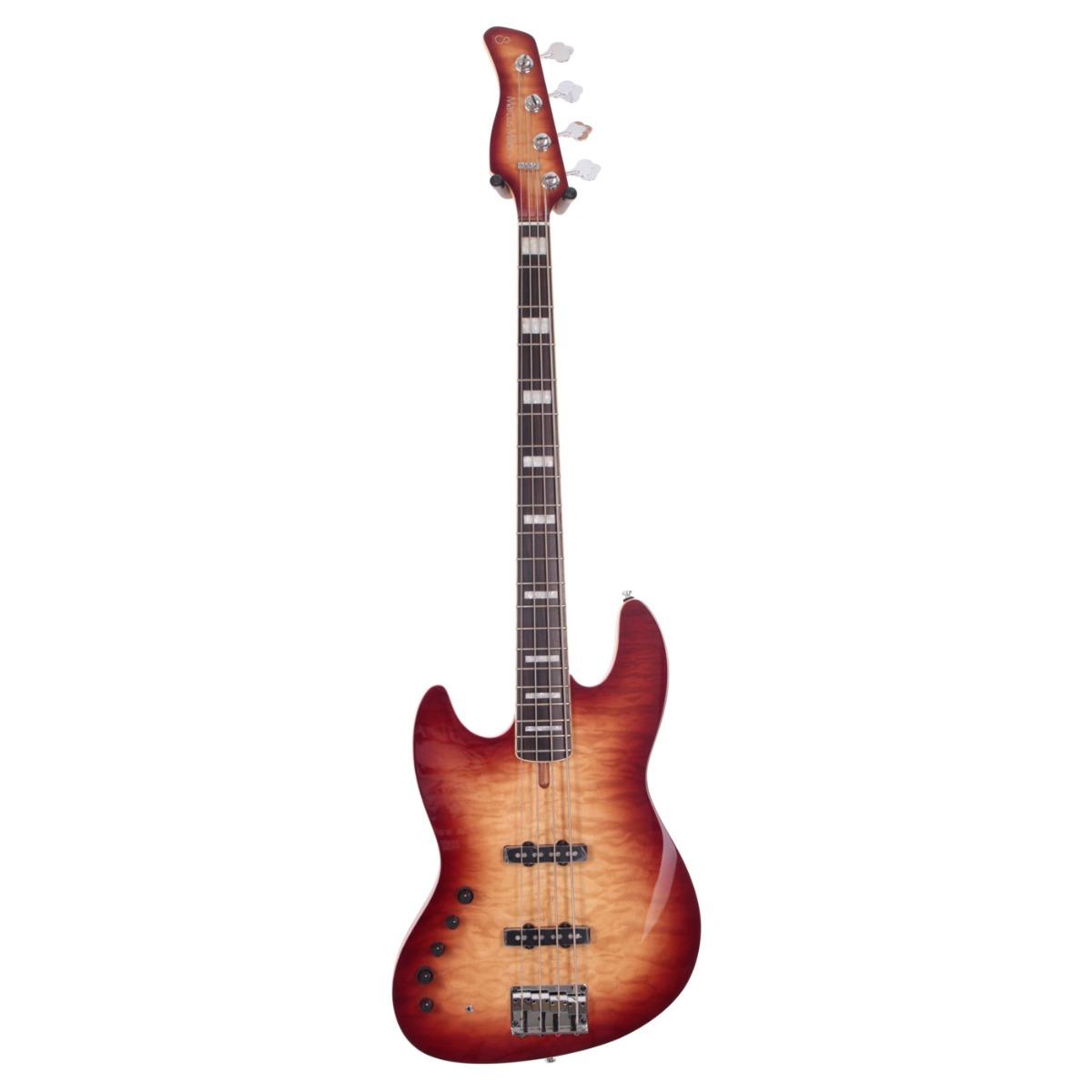 Sire Marcus Miller V9 ALDER-4 LH BRS el-bas, venstrehåndet Satin Brown Sunburst