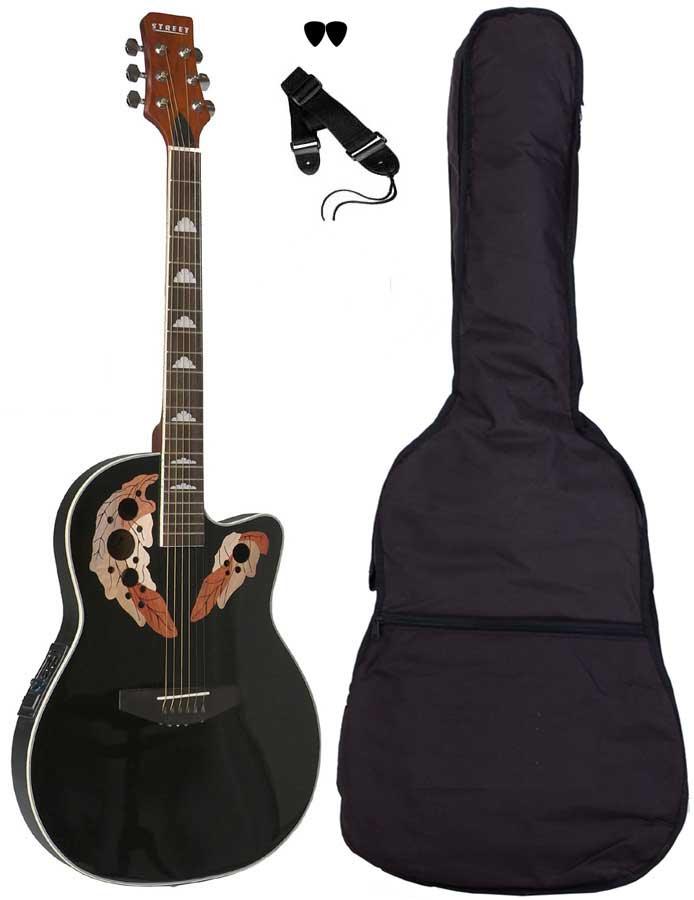 Street OVA-5-BK western-guitar sort