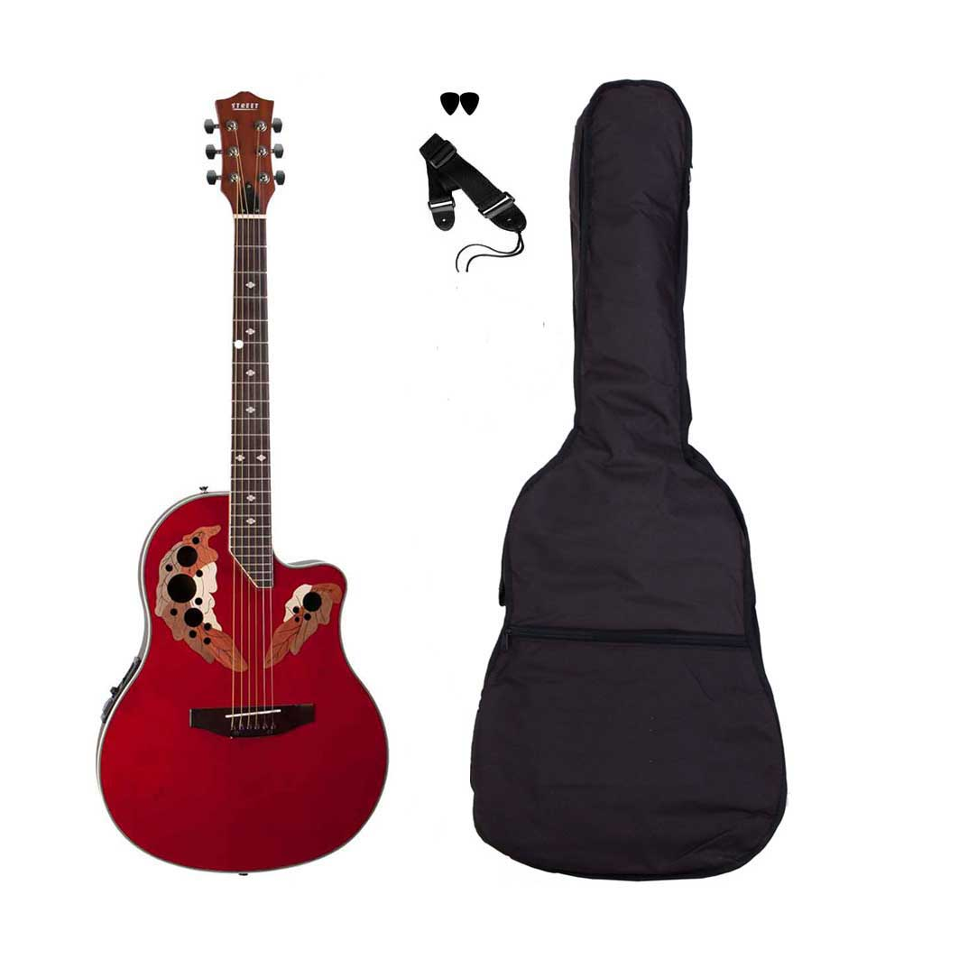 Street OVA-5-RD western-guitar rød
