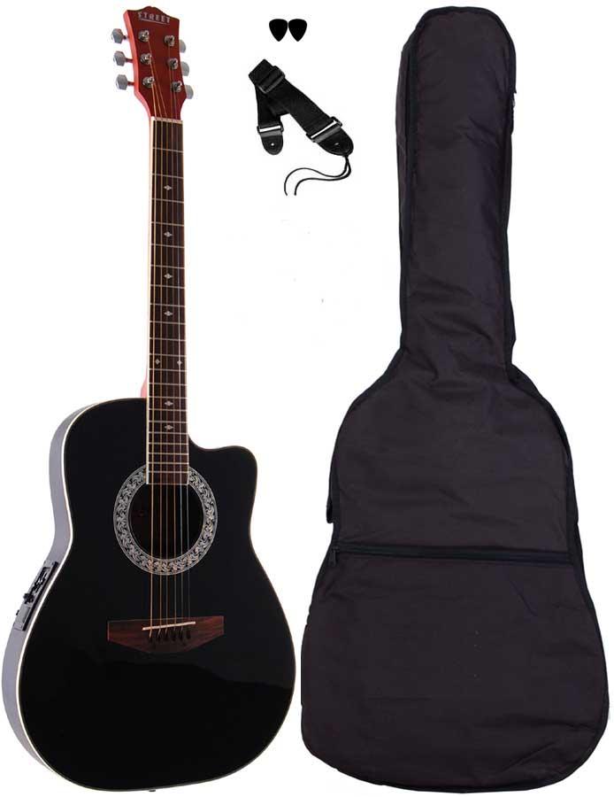 Street RND-4-BK western-guitar sort