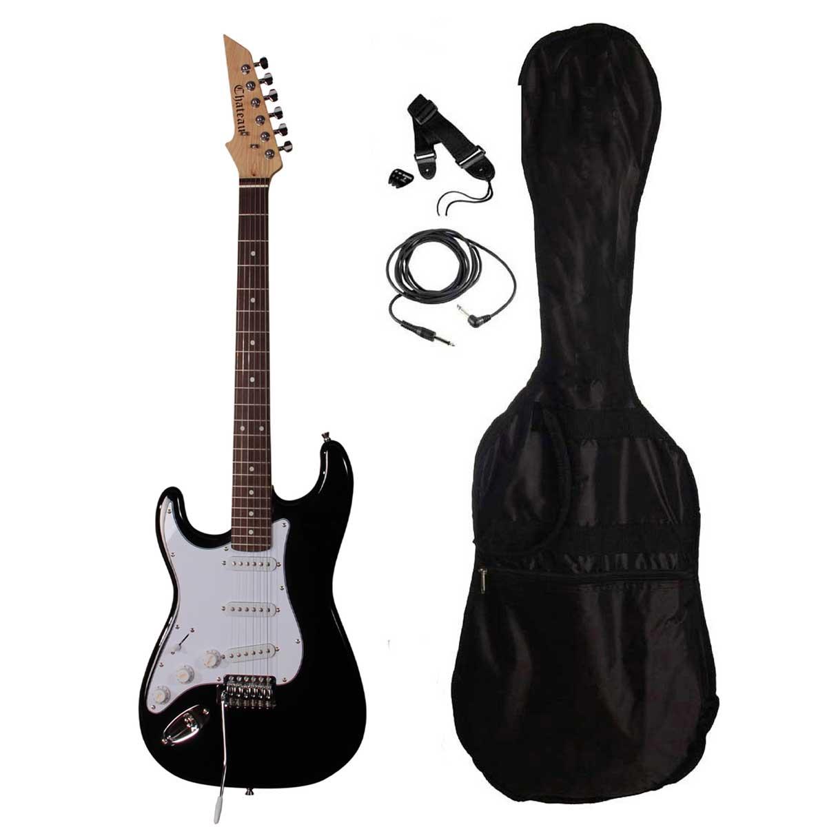 Image of   Chateau ST01 BK LH venstrehånds el-guitar sort