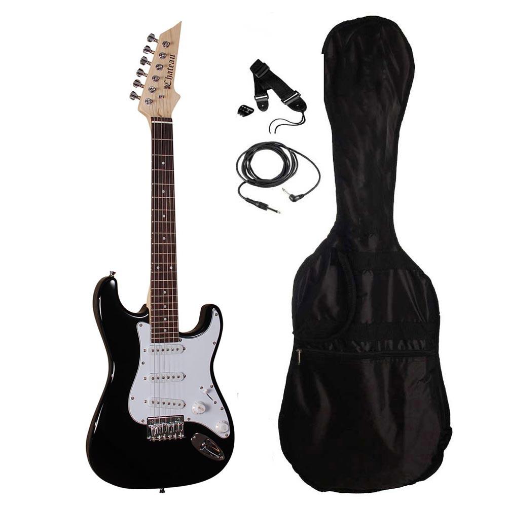 Image of   Chateau ST34-BK børne el-guitar sort