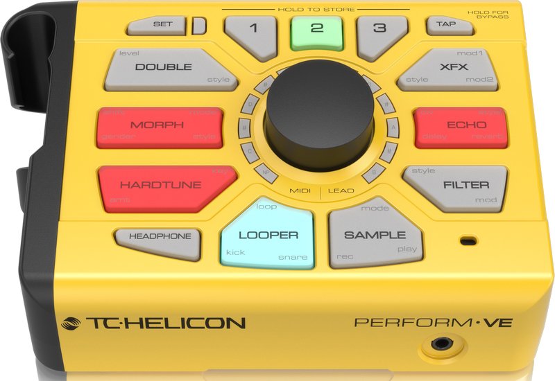 TC Helicon Perform-VE vokal-synth og tromme-looper