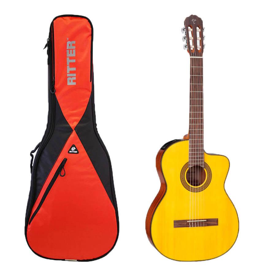 Takamine GC3CE-NAT spansk guitar med taske