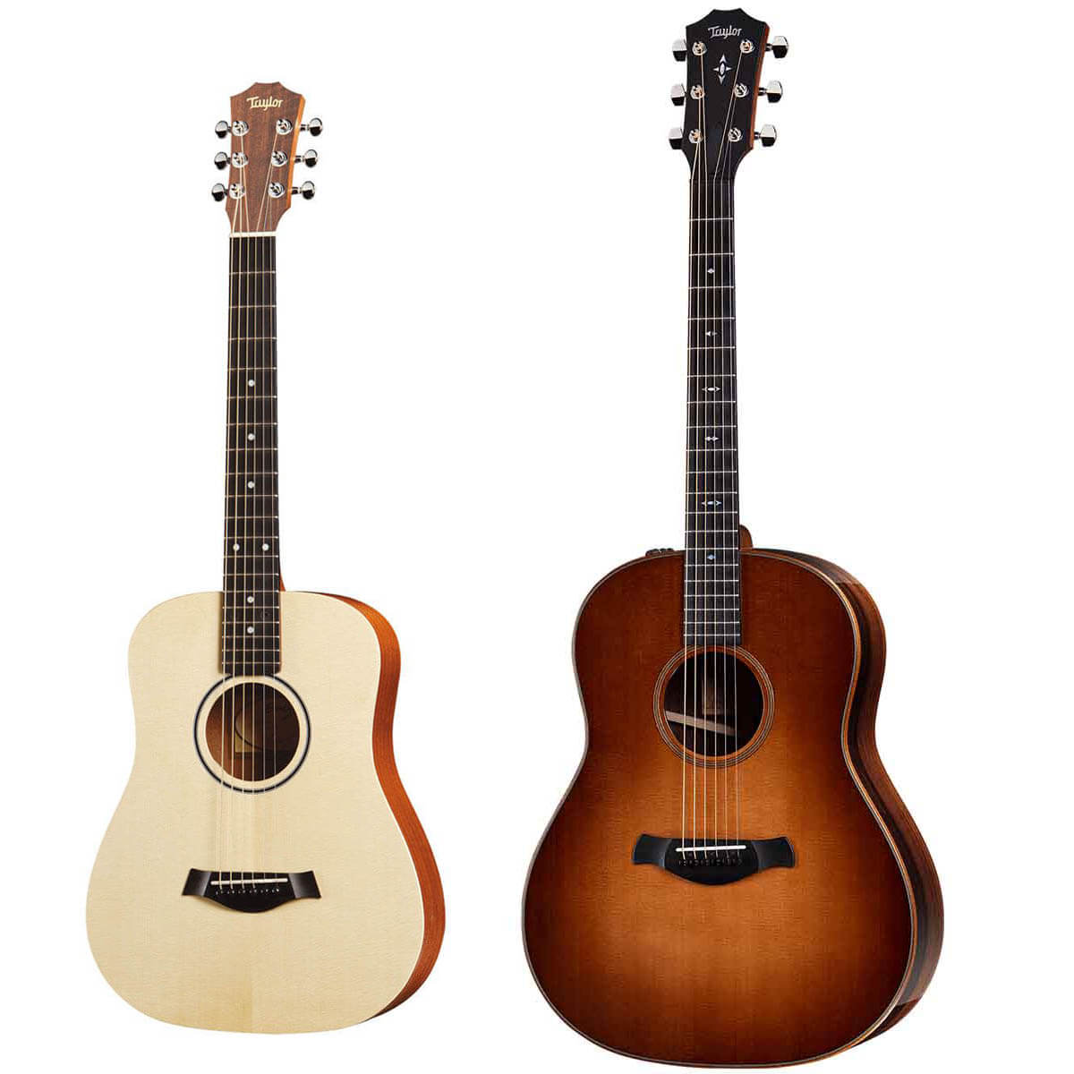 Taylor Builders Edition 717e WHB western-guitar + BT1 Baby Taylor