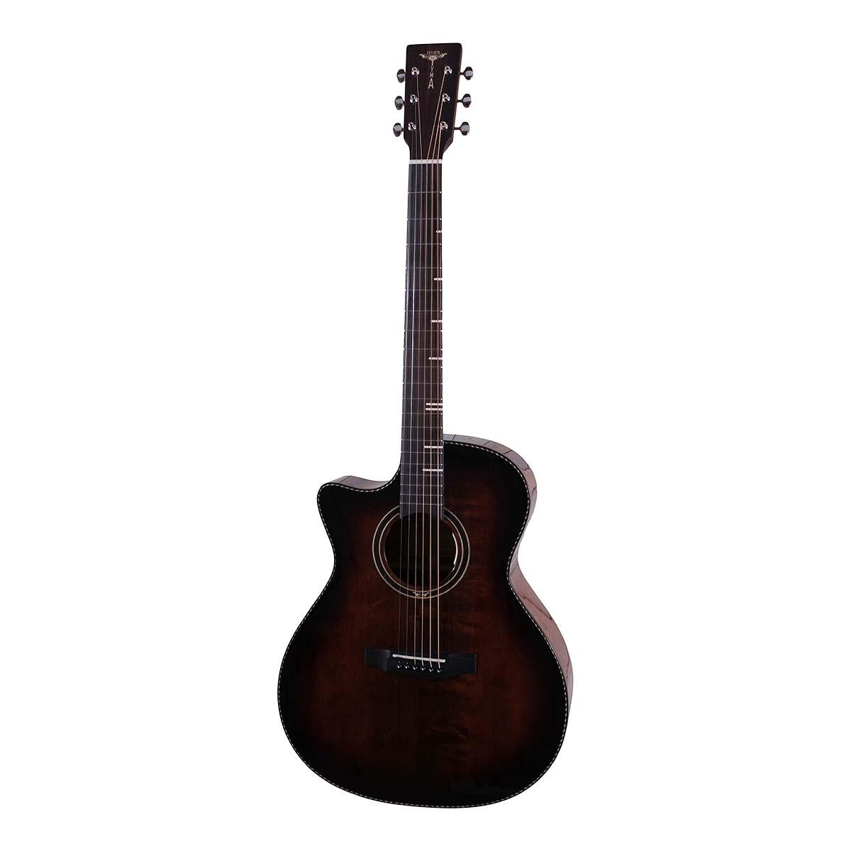 Tyma G-10E BKS LEFT western-guitar, venstrehåndet