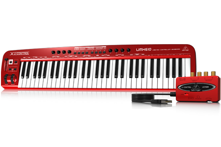 Image of   Behringer UMX610 midi-keyboard