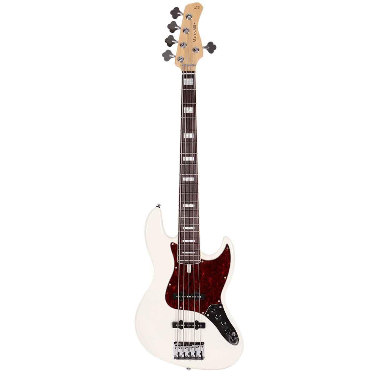 Sire Marcus Miller V7 ALDER-5 AWH el-bas, 5-strenget Antique White