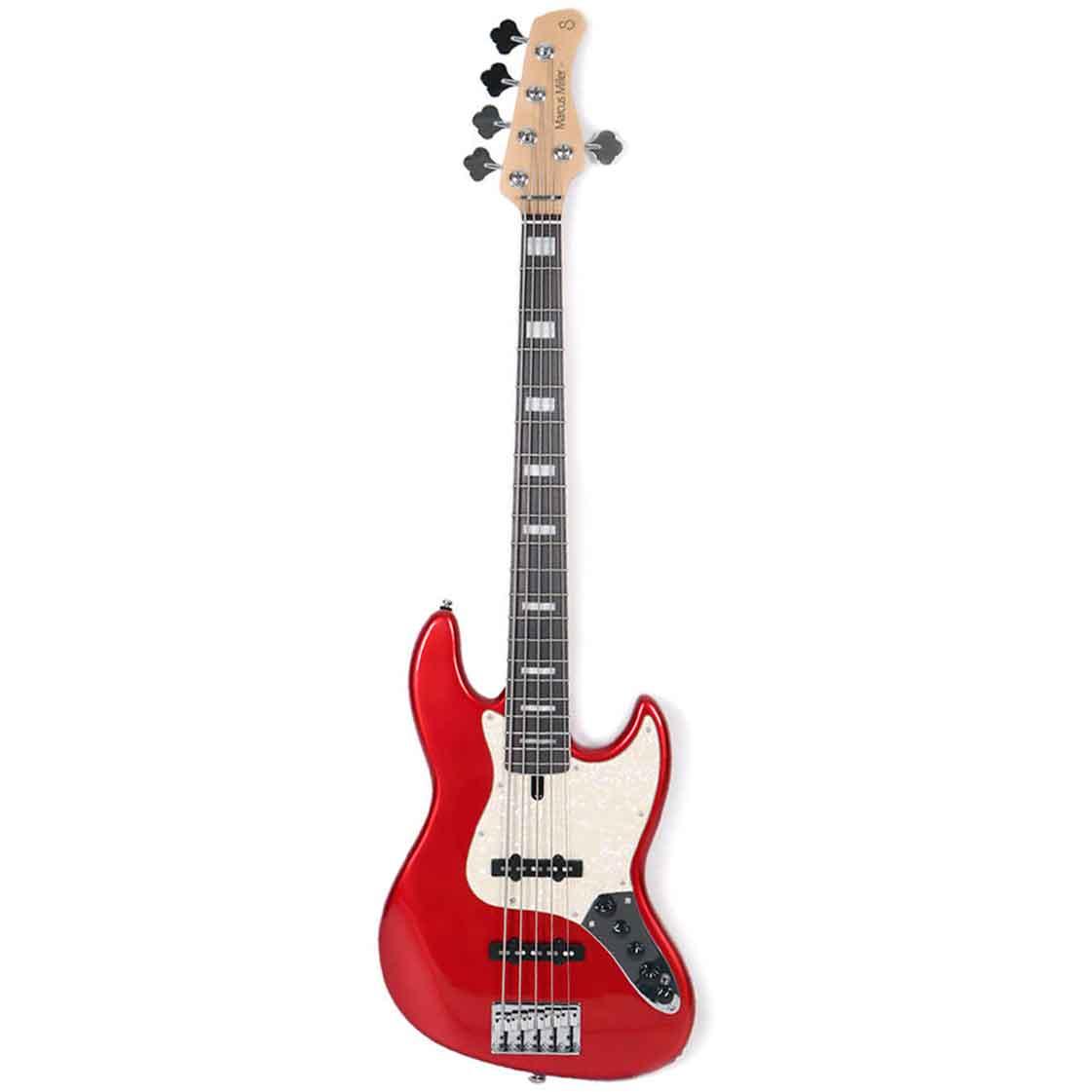 Sire Marcus Miller V7 ALDER-5 BMR el-bas, 5-strenget Bright Metallic Red