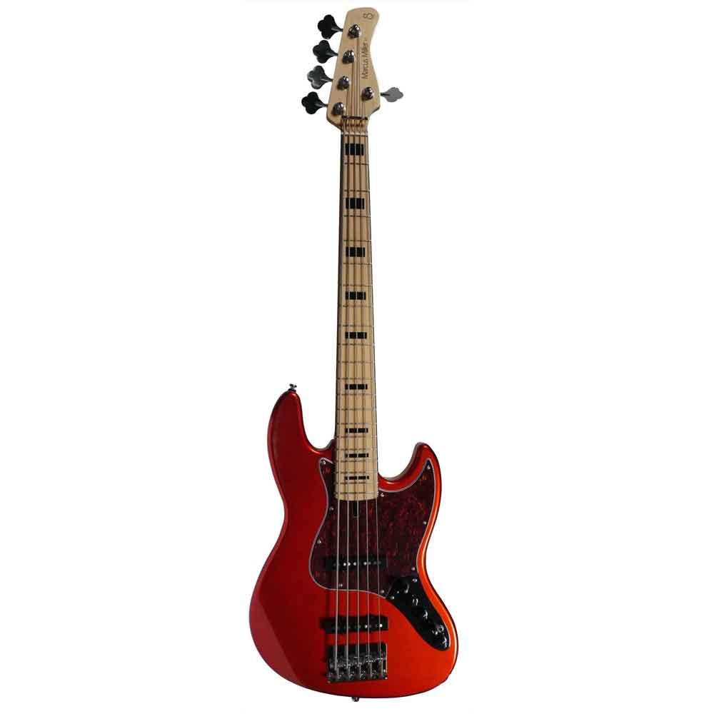 Sire Marcus Miller V7 VINTAGE SWAMP ASH-5  BMR el-bas, 5-strenget Bright Metallic Red