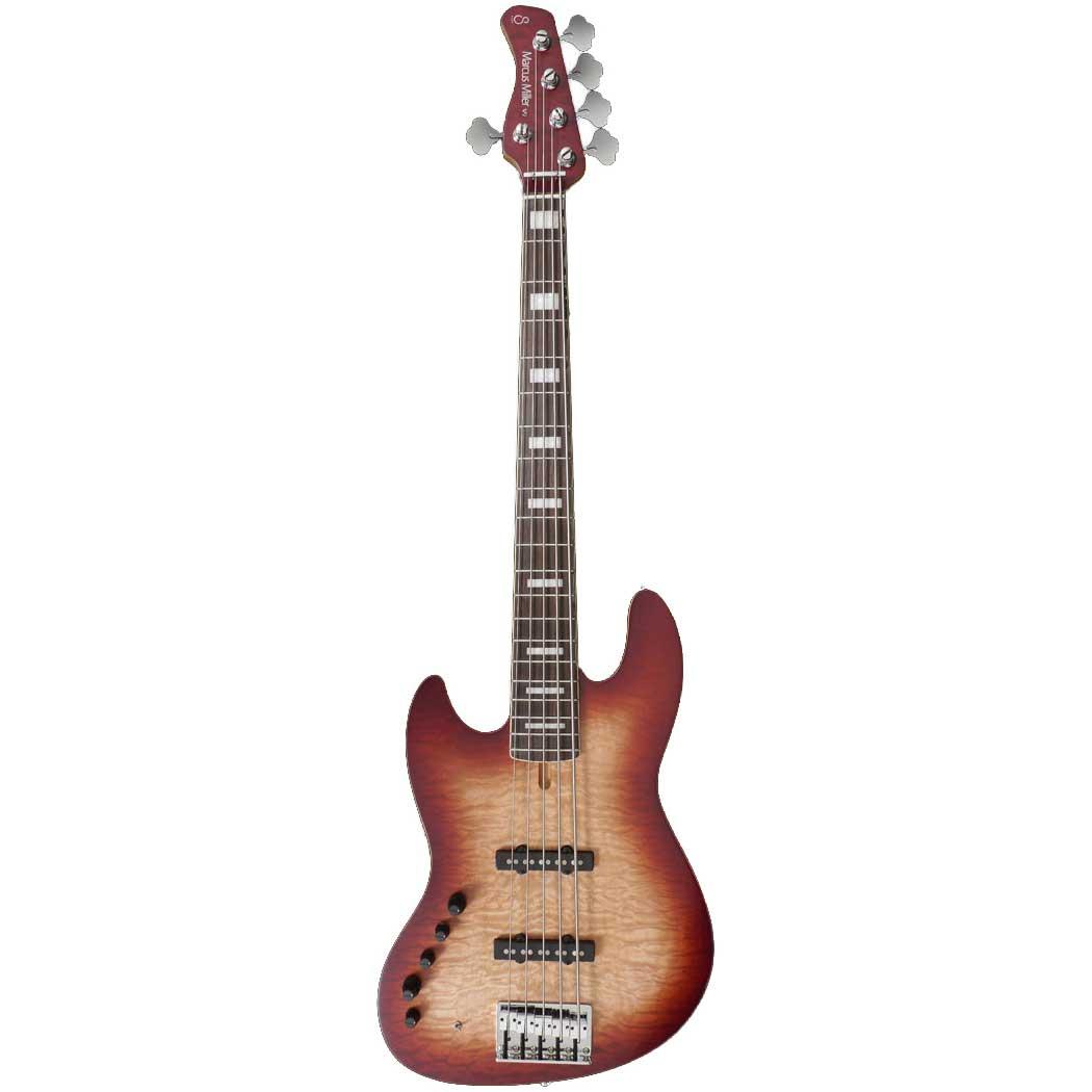Sire Marcus Miller V9 ALDER-5 LH BRS el-bas, venstrehåndet Satin Brown Sunburst