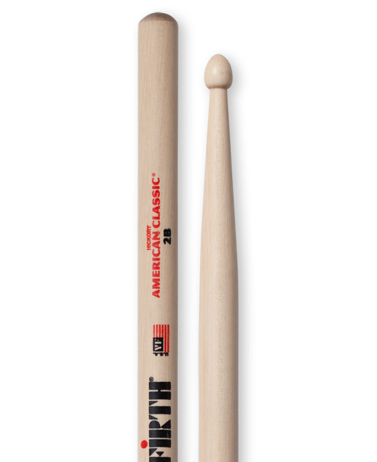 Image of   Vic Firth 2B American Classic trommestikker(par)