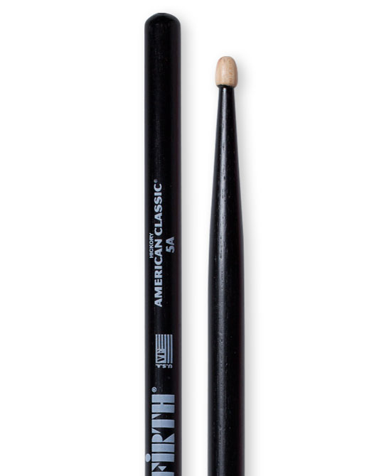Image of   Vic Firth 5AB American Classic Black trommestikker(par)