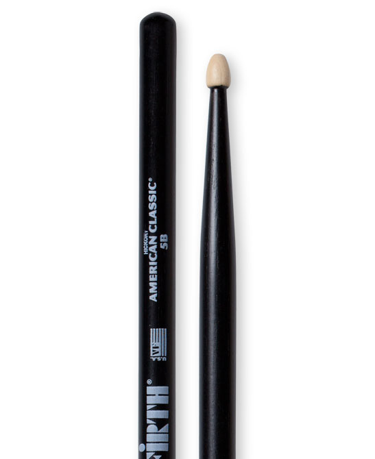Image of   Vic Firth 5BB American Classic Black trommestikker(par)