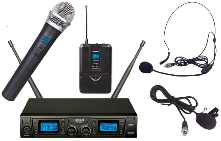 Karsect WR-352HT35-PT35 trådløstdobbeltmikrofon-sæt
