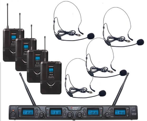Karsect WR-354PT35-HT9A trådløst4xheadset-mikrofon-sæt