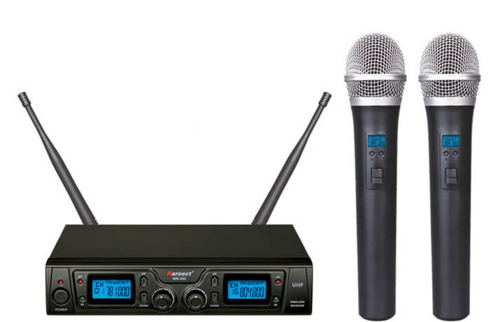 Karsect WR-352HT35 trådløst2xhåndholdtmikrofon-sæt