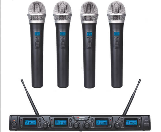 Karsect WR-354HT35 trådløst4xhåndholdtmikrofon-sæt