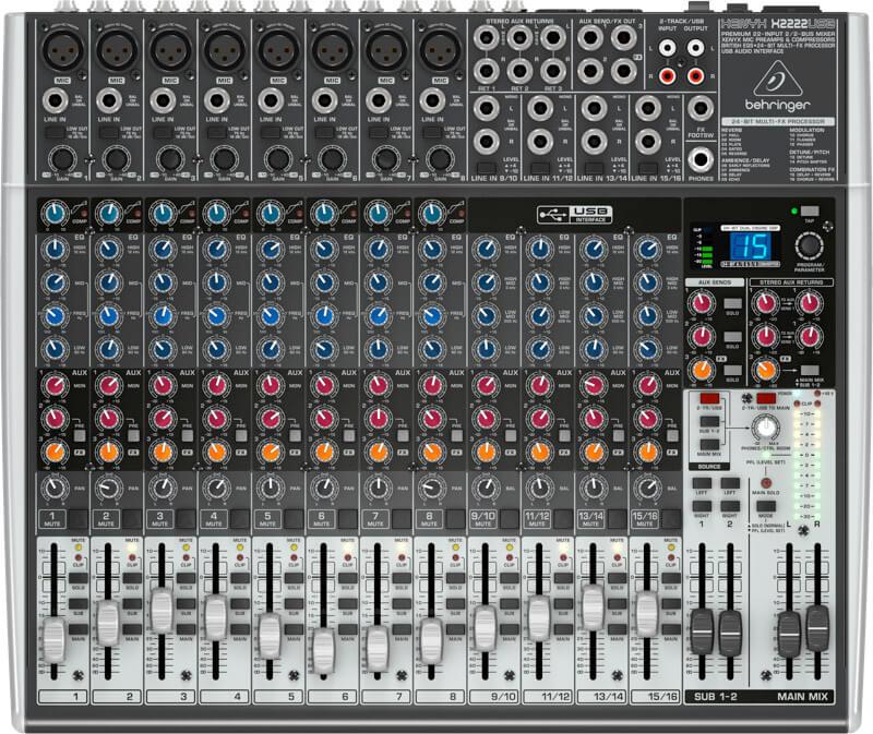 Behringer XenyxX2222USB mixer