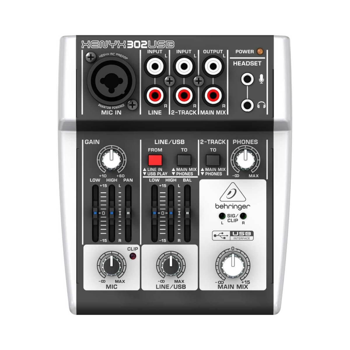 Behringer Xenyx302USB mixer
