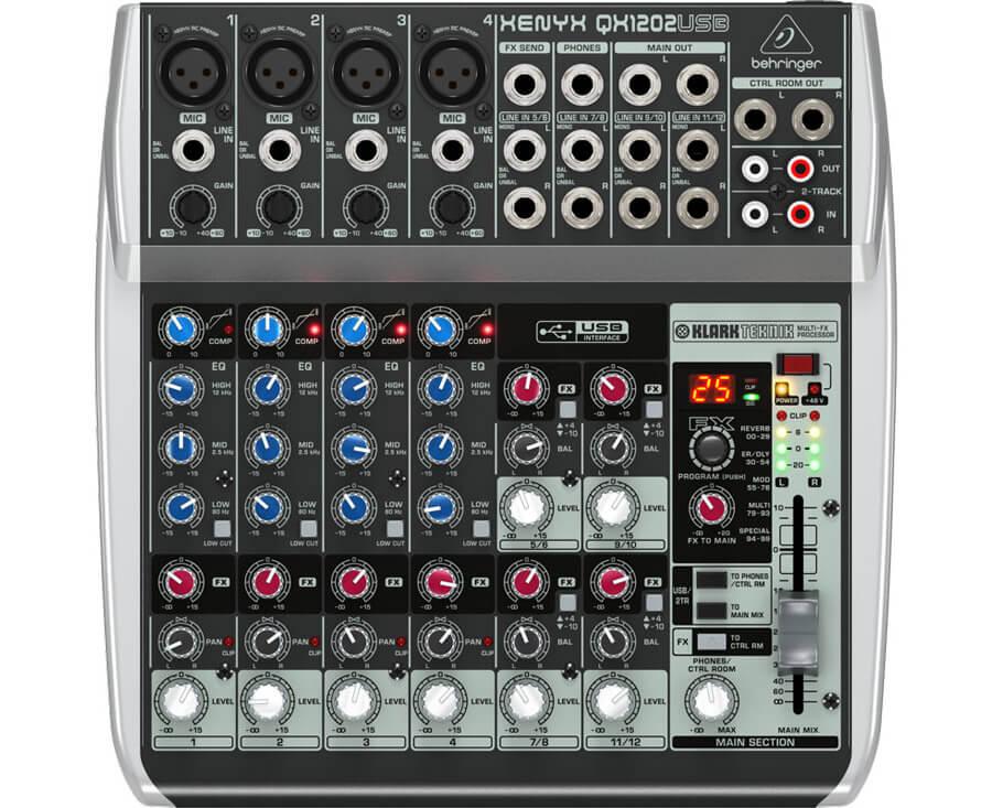 Behringer XenyxQX1202USB mixer
