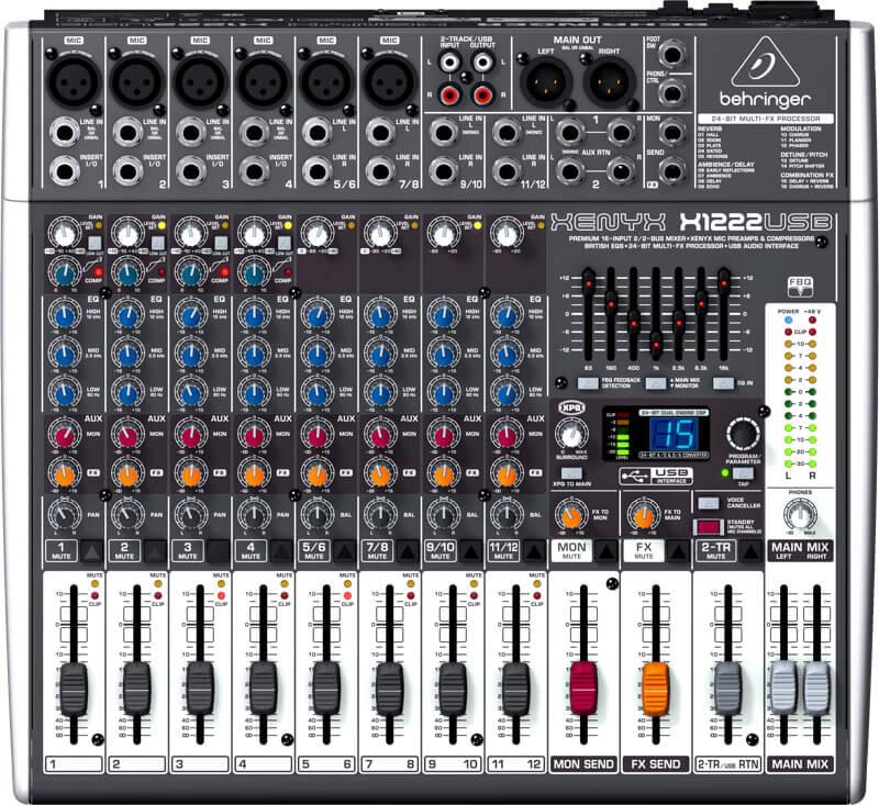 Behringer XenyxX1222USB mixer
