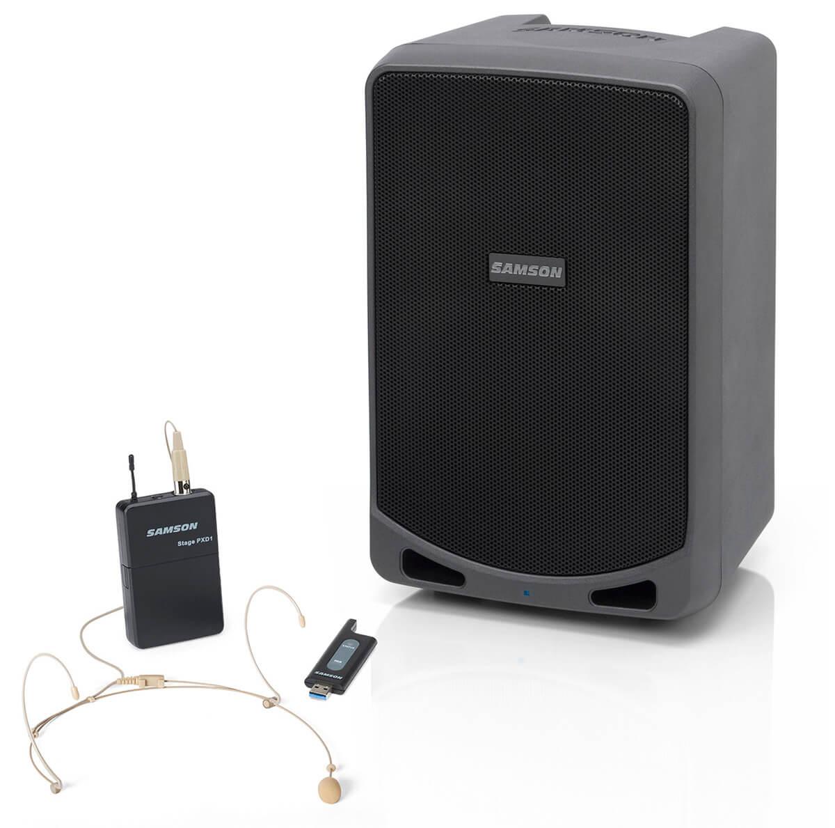 Samson XP106wDE transportabelt anlæg m/ headset-mikrofon