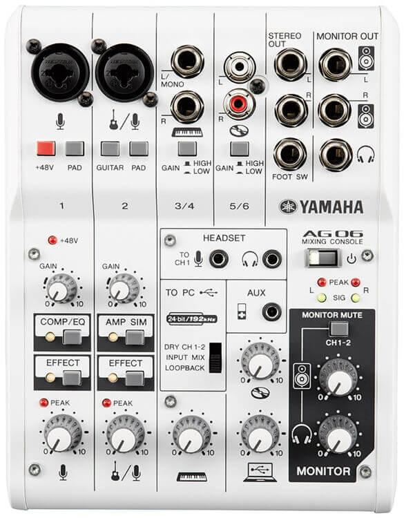 Image of   Yamaha AG06 mixer