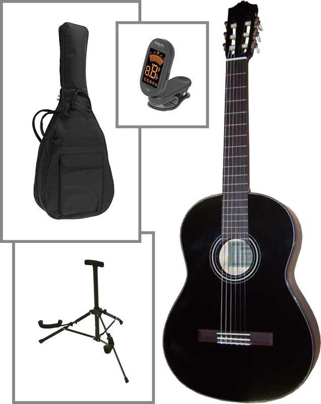 Yamaha C40-BL spansk guitar, sort, PAKKELØSNING