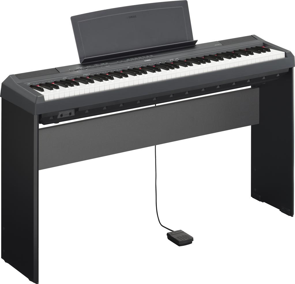 Image of   Yamaha P-115 B sort el-klaver med L85 ben