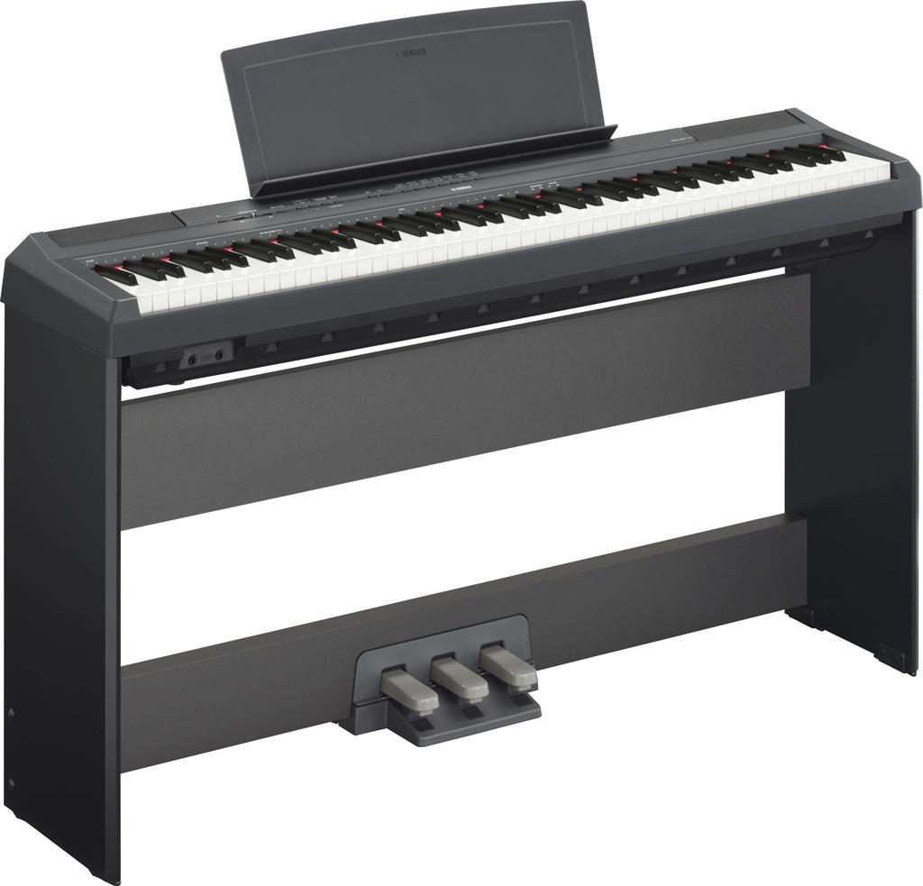 Image of   Yamaha P-115 B sort el-klaver med L85 ben og LP-5A pedaler