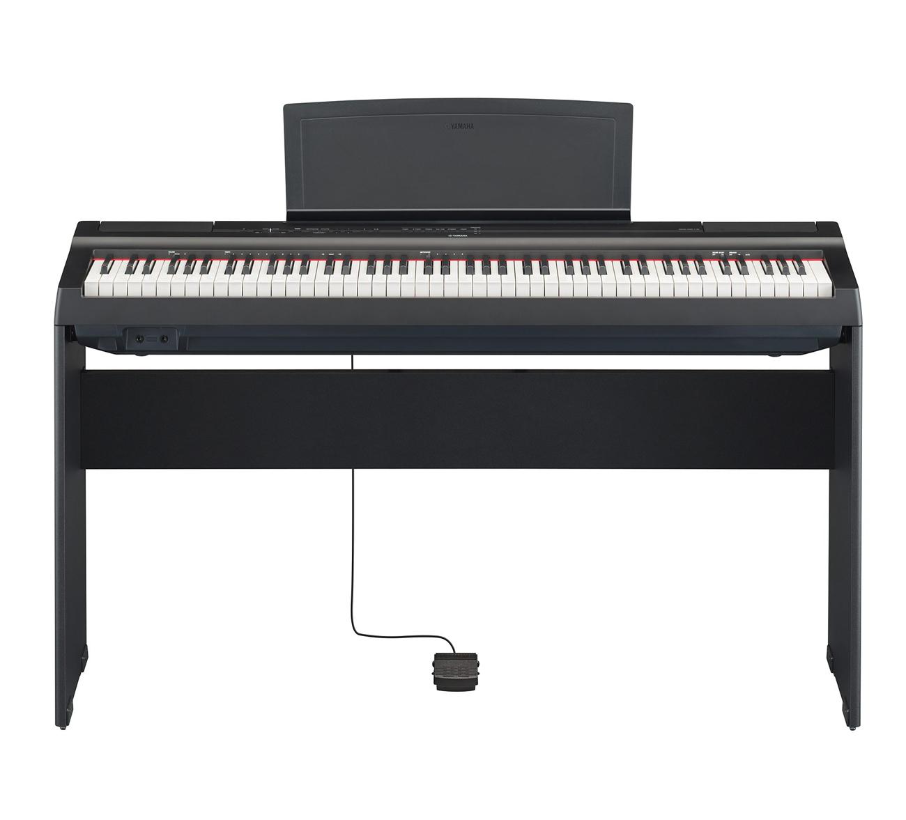 Image of   Yamaha P-125 B sort el-klaver med L125 ben