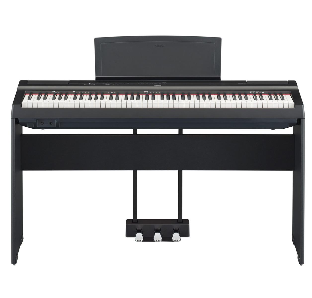 Yamaha P-125 B sort el-klaver med L125 ben og LP-1 pedaler