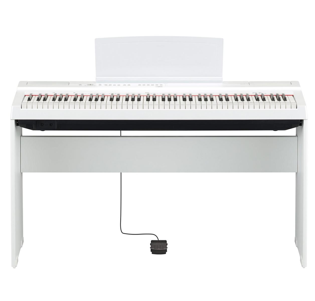 Image of   Yamaha P-125 WH hvid el-klaver med L125 ben