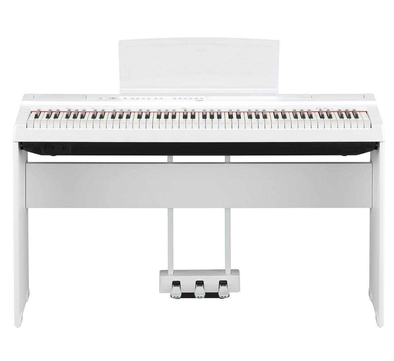 Yamaha P-125 WH hvid el-klaver med L125 ben og LP-1 pedaler