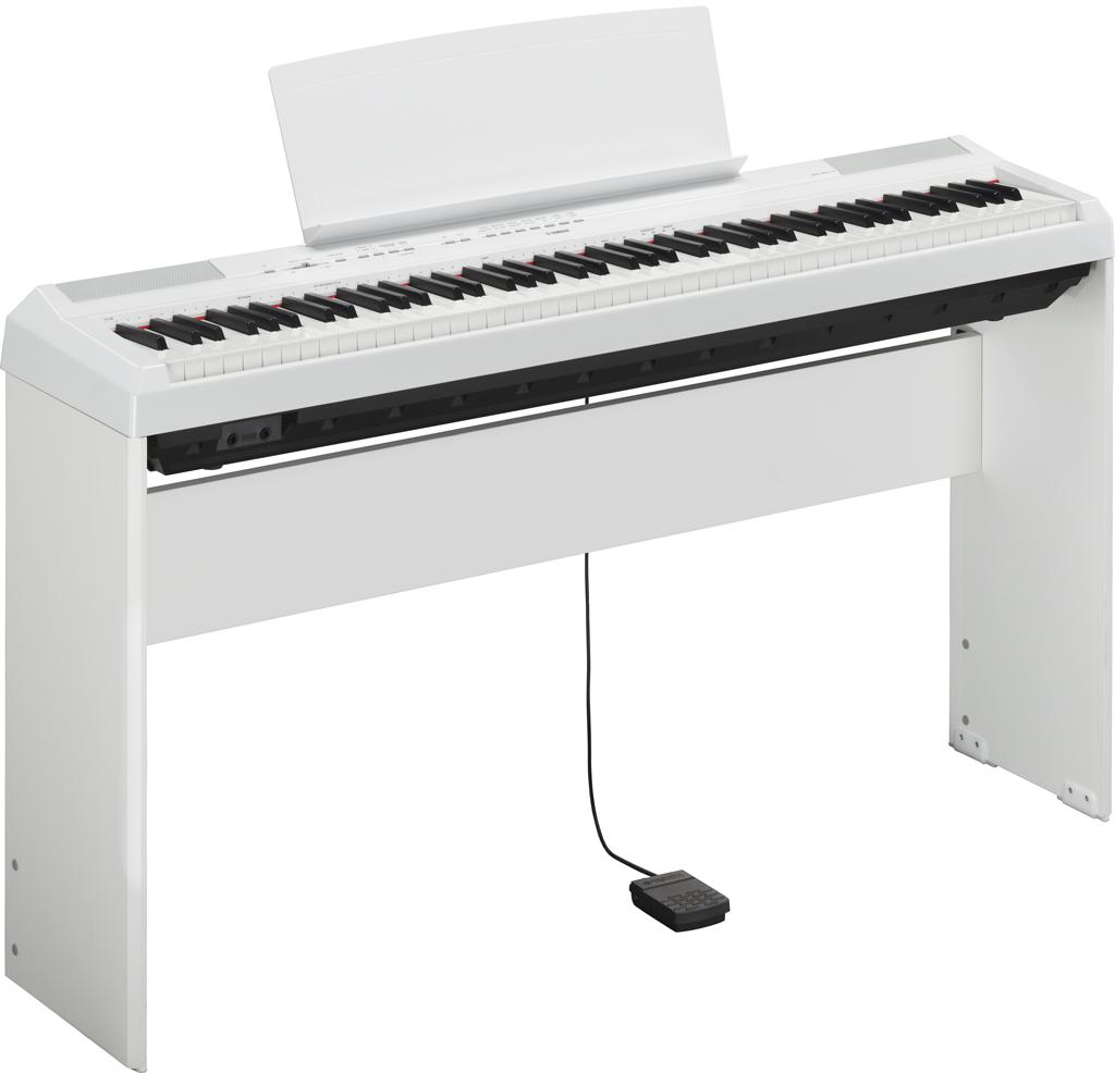 Image of   Yamaha P-115 WH hvid el-klaver med L85 WH ben