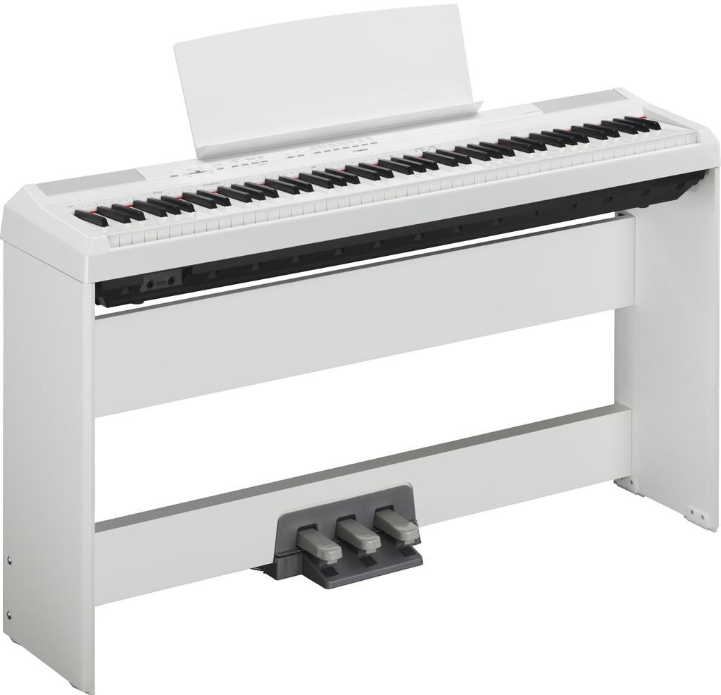 Image of   Yamaha P-115 WH hvid el-klaver med L85 WH ben og LP-5A WH pedaler