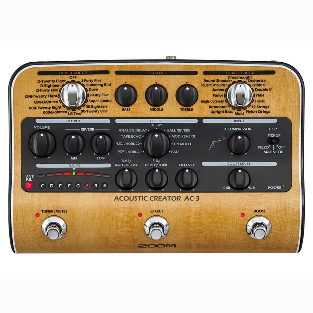 Zoom AC-3 akustisk-guitar-pedal