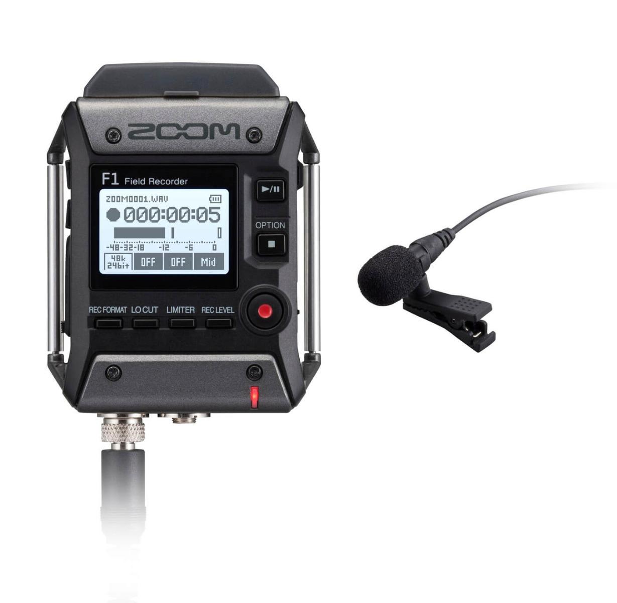 Billede af Zoom F1-LP håndholdt optager med klemme-mikrofon