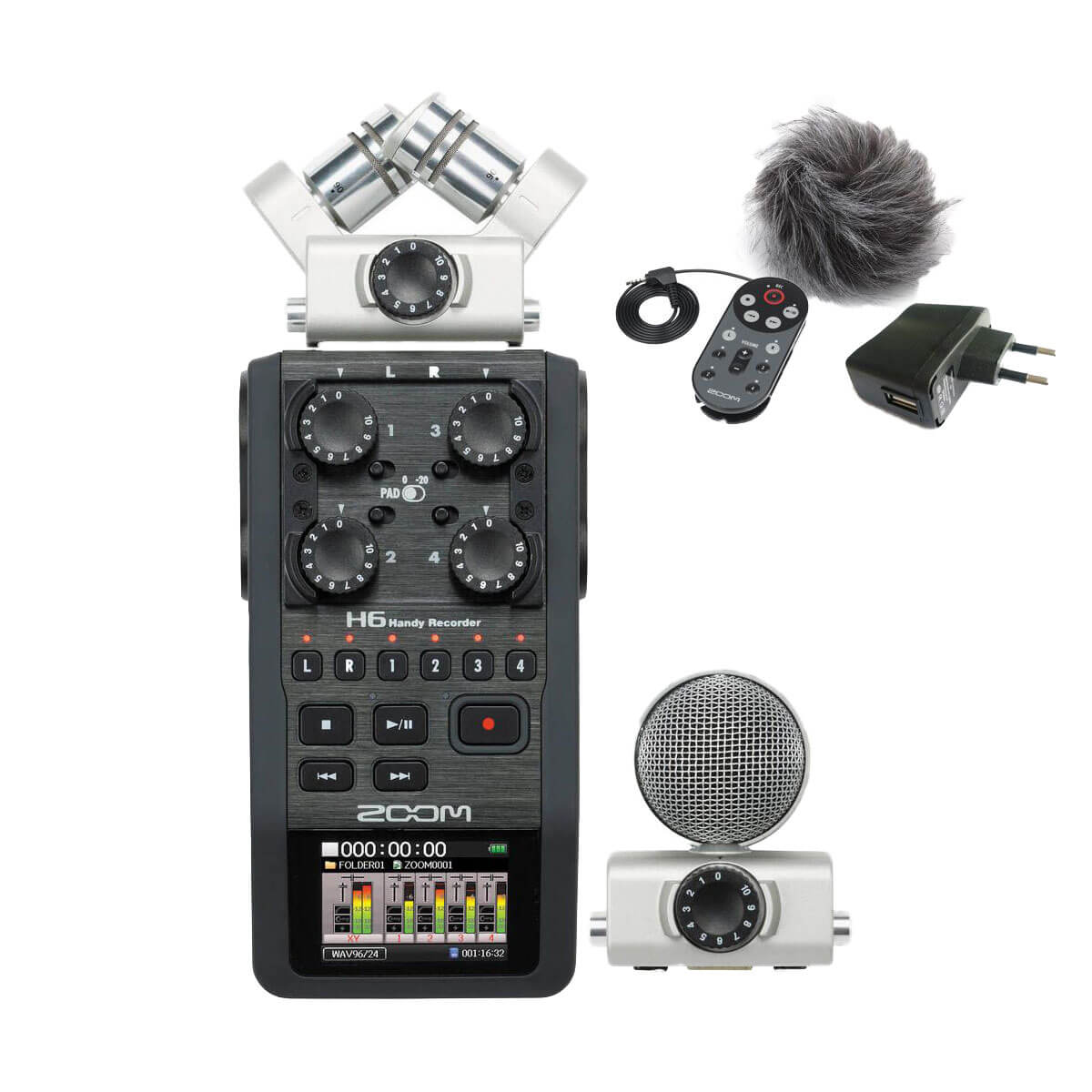Zoom H6 handy audio recorder + Tilbehør