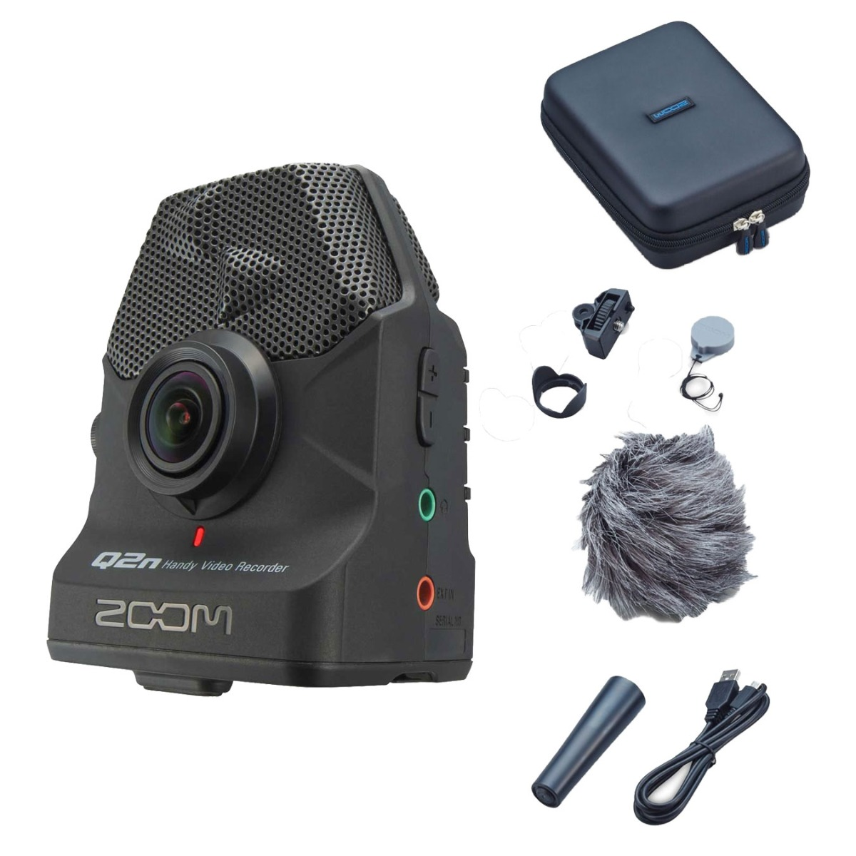 Zoom Q2n handy video audio recorder + tilbehør