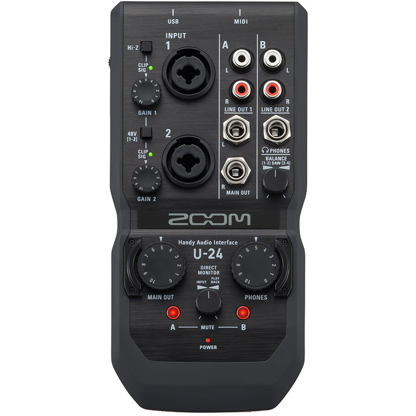 Zoom U24 handyaudiointerface