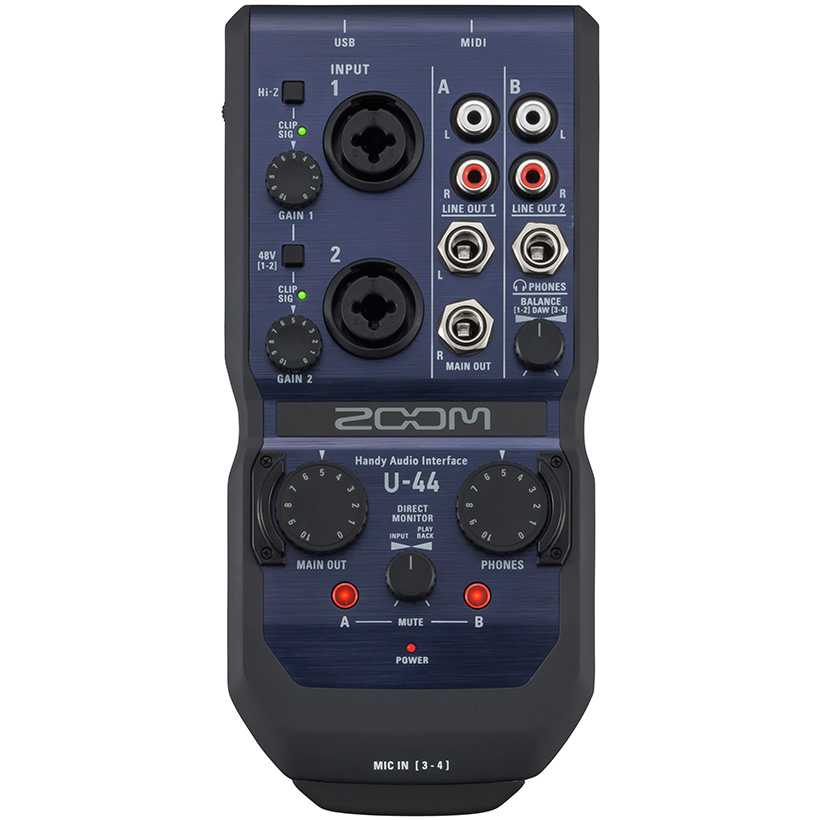 Zoom U44 handyaudiointerface