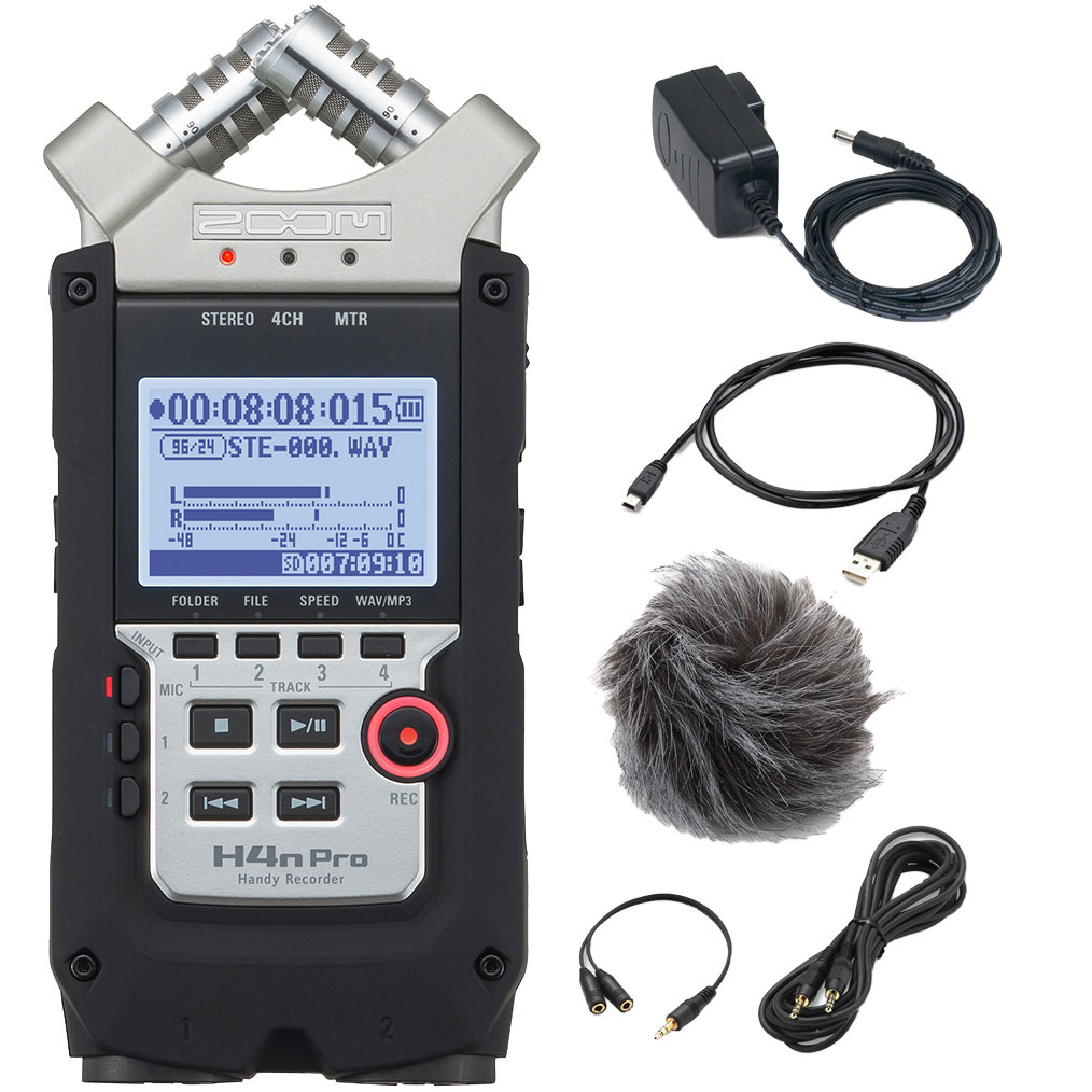 Zoom H4n-PRO handy audio recorder + tilbehør